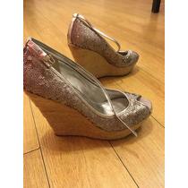Zapatos Guess Importados Lentejuelas Plateadas