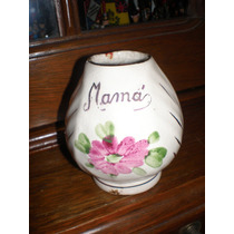 Antiguo Mate Con Decorativa Flor Mama Sellado La Norma