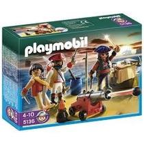 Playmobil 5136 Piratas Con Armas Y Cañon Zona Devoto