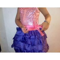 Vestido Disfraz De Violetta En Mi Mundo