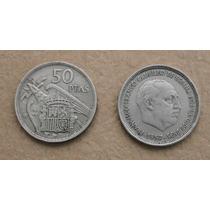 Moneda De España 50 Pesetas Franco 1957 Estrella 59