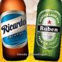 Kit Etiquetas De Botellas Bebidas Personalizadas Editables