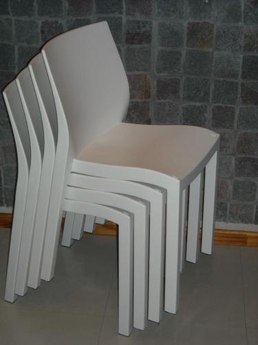 Enviamos Sillas Plasticas Reforzadas Color Blanco