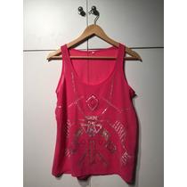 Blusa Musculosa De Gasa Con Diseño Bordado De Lentejuelas