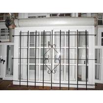Ventana De Aluminio Blanco Vidrio Repartido Cortina 150x150