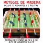 Metegol De Madera 12 Jugadores Juego De Mesa Futbol En Caja