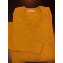Sweater Bremer Escote V Mostaza Xxl