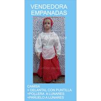 Disfraz Patrio Vendedora Empanadas Negrita Talle 4/6/8/10