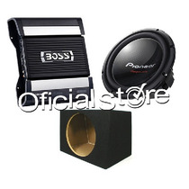 Combo Potencia Boss + Woofer Pioneer Tsw311 1400w+caja