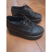 Wanama Creepers Zapatos Abotinados Cuero Estilo Chebar H&m