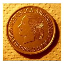 Argentina:moneda 2 Pesos Evita-año 2002
