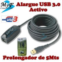 Cable Usb 3.0 5m Nisuta Alargue Con Amplificador Super Speed