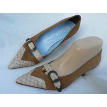 Zapato Paruolo Cuero Stiletto 36 37 Nuevo Fortu13