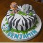 Tortas Decoradas Nacimiento Bautismo Primer 1 Año Nene Varon