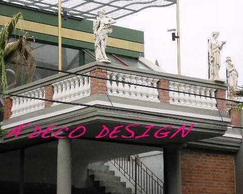 Desague de balcon terraza de cemento balaustras gargola for Modelos de balcones modernos para casas