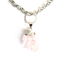 Collar Cadena Chocker Delta Corto Piedra Rosa Mujer