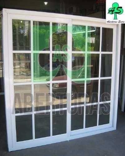 Ventana aluminio blanco reparti 120x150 c vid y reja 3620 for Ventanas de aluminio precios argentina