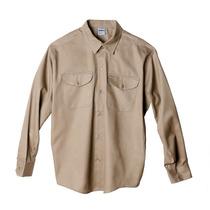 Camisa De Trabajo Ombu, Color Beige, Talle 54