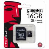 Memoria Micro Sd Hc 16 Gb Kingston Clase 10 Tienda Oficial