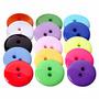 Botones Plásticos Redondos 100 Unidades De Colores Surtidos