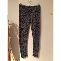 Calza Mujer Animal Print Color Gris Talle S