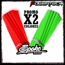 Promo 2 Colores Cubre Rayos Spoke Skins Varios Colores
