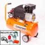 Compresor De Aire 2hp 25lts Lusqtoff Lc2025 C/kit 5 Piezas