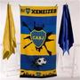 Toallon Fútbol Playero Boca Juniors Bostero Xeneizes Oficial