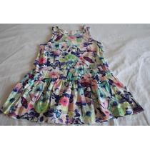 Vestido De Algodón Estampa Mariposas 2 A 4 Años, Marca H&m