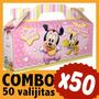Minnie Bebe Cajita Valijita Bolsita Souvenir Combo X 50
