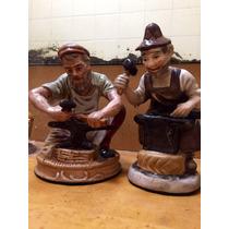 Figuras De Porcelana Capodimonti Dos Al Precio De Una Import