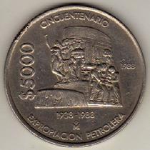 Moneda De México - 5000 Pesos 1988- Expropiación Petrolera