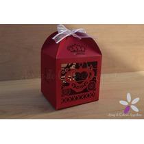 30 Cajas Caladas Carroza Láser Souvenir Corona 15 Casamiento