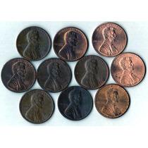 Estados Unidos Lote X 10 Lincoln Cents - Variedad De Años