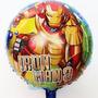 Globo Metalizado Iron Man Marvel Disney Xd Original Deco