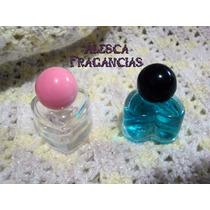 10 Envases, Frasco Vidrio Corazon, Perfume Fino, Souvenirs