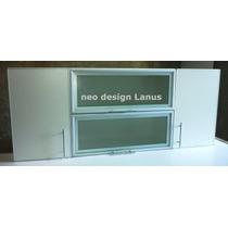 Alacena Puertas Vidrio Modelo Horizonte Cantos Aluminio