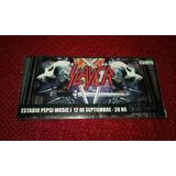 Slayer Entrada Sticker De Su Show En El Luna Park.