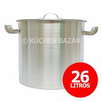 Olla Gastronómica De Aluminio Reforzada - Nro 32 - 26 Litros