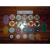 Robmar-lote De 24 Fichas De Ruleta O Poker-mas 4 De Regalo