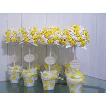 Topiarios Flores Goma Eva - Souvenirs, Centros De Mesa