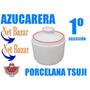 Azucarera Tsuji Roja Rojo Bar Porcelana Azucar Juego Vajilla