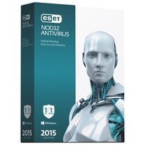 Eset Nod32 Antivirus Home 8 3pc X1año 2015
