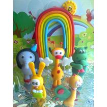 5 Personaje + Arcoiris Baby Tv !!! - Adorno Para Tu Torta !