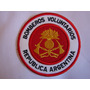 Insignia Bordada Bomberos Voluntarios Republica Argentina