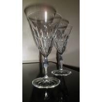 Par De Copas De Cristal Aleman Para Vino Tinto, Art Deco