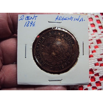 Moneda Argentina 2 Centavos1884