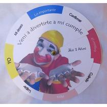 Invitaciones Giratorias Infantiles Cumples Bautismos