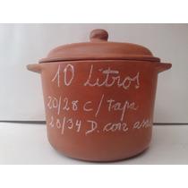 Olla De Barro Curada Lista Para Cocciòn De 10 Litros!!!
