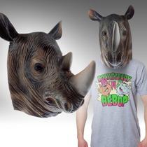 Mascara Latex Rinoceronte Rino Disfraz Animal Loco Cosplay